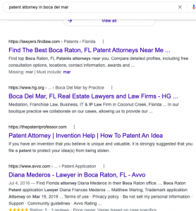 hyper-local search results