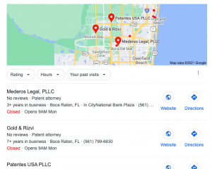 Google Map Search Results Generic Search